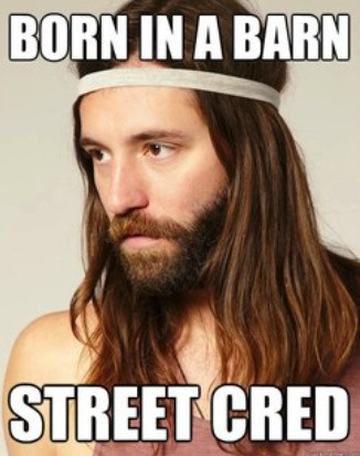 Hipster Jesus - Born in a Barn