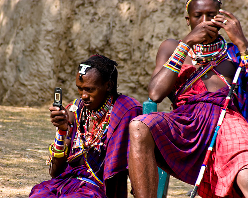 Africans on phones